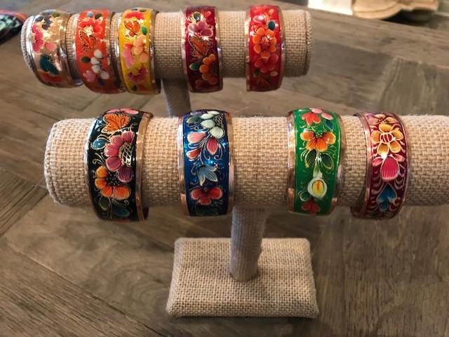 Copper bracelets from Santa Clara del Cobre